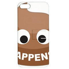 Poo Happens Apple Iphone 5 Hardshell Case With Stand by Vitalitee