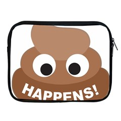 Poo Happens Apple Ipad 2/3/4 Zipper Cases by Vitalitee