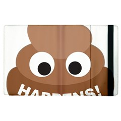Poo Happens Apple Ipad Pro 12 9   Flip Case