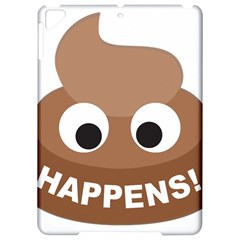 Poo Happens Apple Ipad Pro 9 7   Hardshell Case by Vitalitee