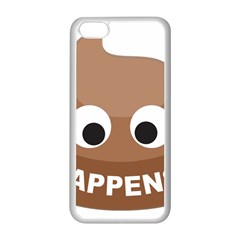 Poo Happens Apple Iphone 5c Seamless Case (white) by Vitalitee