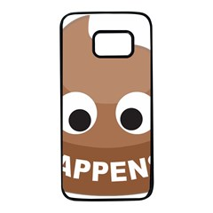 Poo Happens Samsung Galaxy S7 Black Seamless Case by Vitalitee