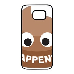 Poo Happens Samsung Galaxy S7 Edge Black Seamless Case by Vitalitee
