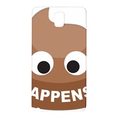 Poo Happens Samsung Galaxy Note 3 N9005 Hardshell Back Case