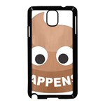 Poo Happens Samsung Galaxy Note 3 Neo Hardshell Case (Black) Front
