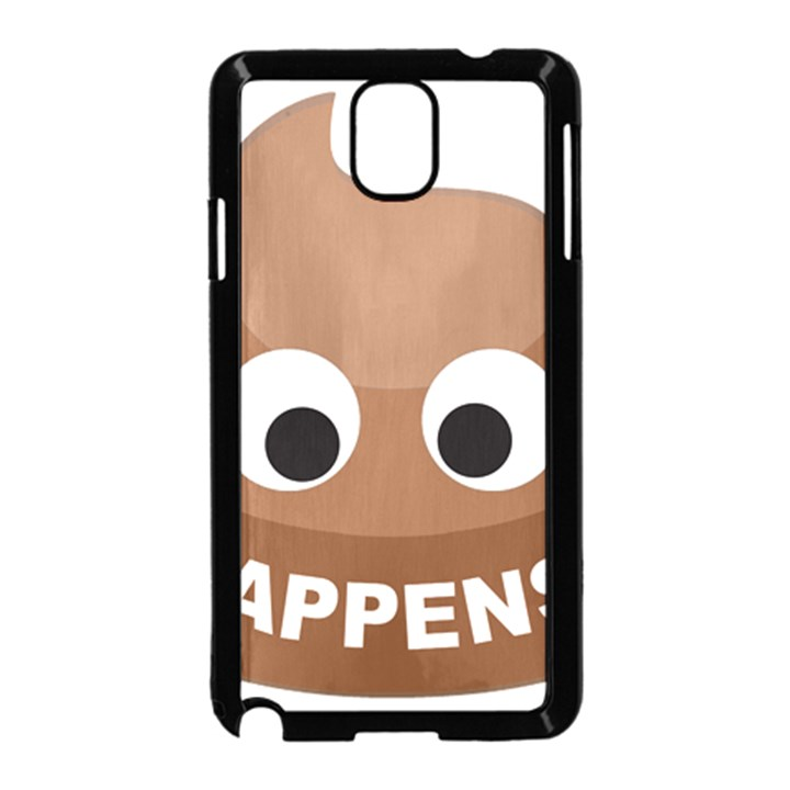 Poo Happens Samsung Galaxy Note 3 Neo Hardshell Case (Black)