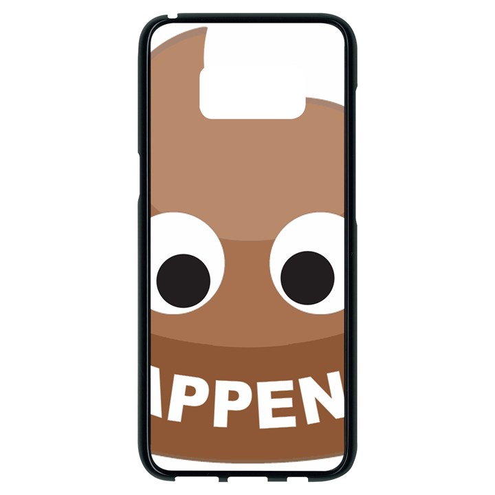 Poo Happens Samsung Galaxy S8 Black Seamless Case