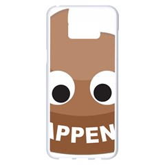 Poo Happens Samsung Galaxy S8 Plus White Seamless Case by Vitalitee