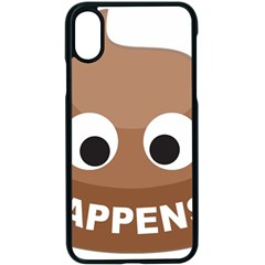 Poo Happens Apple Iphone X Seamless Case (black) by Vitalitee