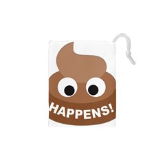 Poo Happens Drawstring Pouches (xs)
