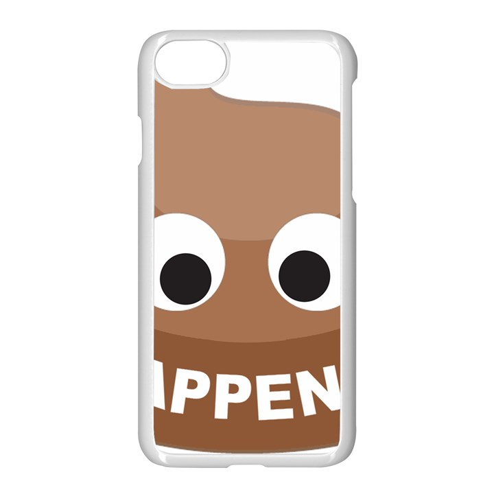 Poo Happens Apple iPhone 7 Seamless Case (White)