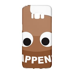 Poo Happens Samsung Galaxy S8 Hardshell Case  by Vitalitee