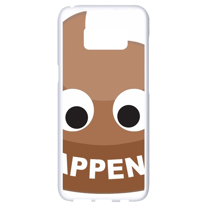 Poo Happens Samsung Galaxy S8 White Seamless Case