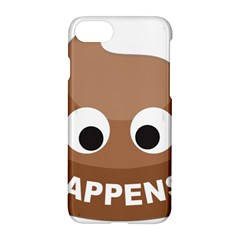 Poo Happens Apple Iphone 8 Hardshell Case by Vitalitee
