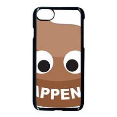 Poo Happens Apple Iphone 8 Seamless Case (black) by Vitalitee