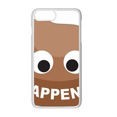 Poo Happens Apple Iphone 8 Plus Seamless Case (white) by Vitalitee