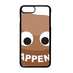 Poo Happens Apple Iphone 8 Plus Seamless Case (black) by Vitalitee
