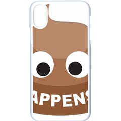 Poo Happens Apple Iphone X Seamless Case (white)