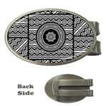Wavy Panels Money Clips (Oval)  Front