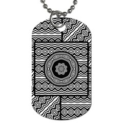 Wavy Panels Dog Tag (two Sides)