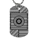Wavy Panels Dog Tag (Two Sides) Back