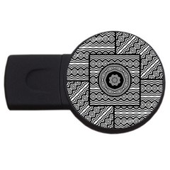 Wavy Panels Usb Flash Drive Round (2 Gb) by linceazul