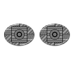 Wavy Panels Cufflinks (oval) by linceazul