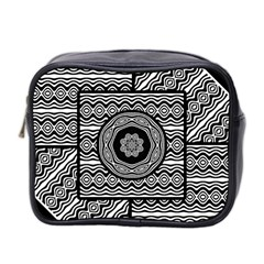 Wavy Panels Mini Toiletries Bag 2 Side