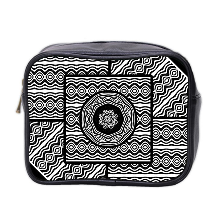 Wavy Panels Mini Toiletries Bag 2-Side