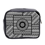 Wavy Panels Mini Toiletries Bag 2-Side Back