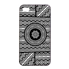 Wavy Panels Apple Iphone 4/4s Seamless Case (black) by linceazul