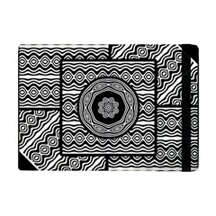 Wavy Panels Apple Ipad Mini Flip Case by linceazul