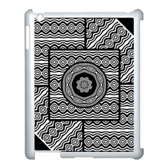 Wavy Panels Apple Ipad 3/4 Case (white) by linceazul