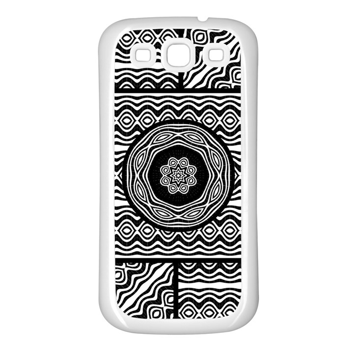Wavy Panels Samsung Galaxy S3 Back Case (White)