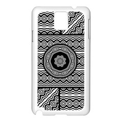 Wavy Panels Samsung Galaxy Note 3 N9005 Case (white) by linceazul