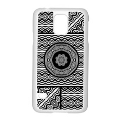Wavy Panels Samsung Galaxy S5 Case (white) by linceazul