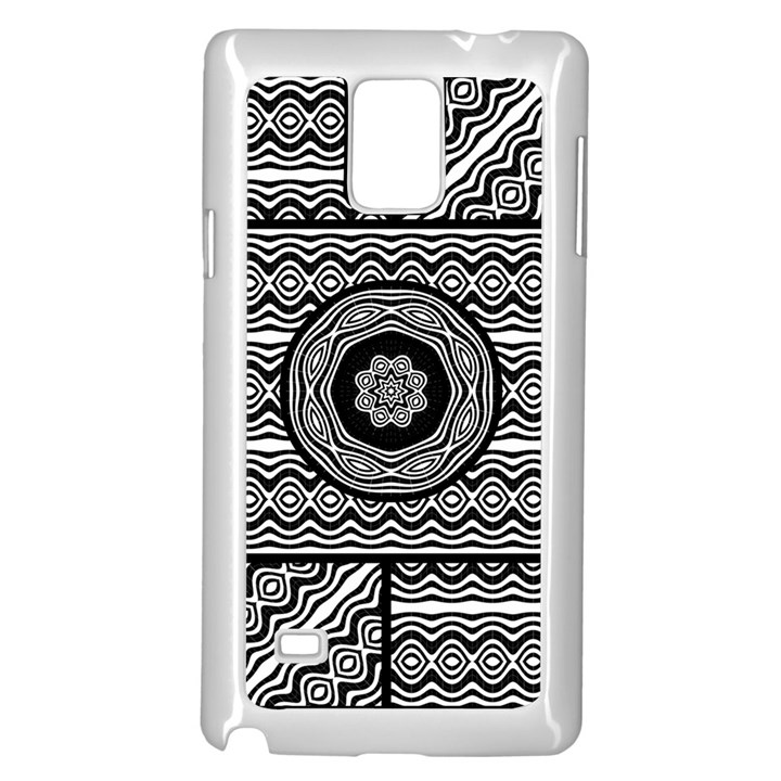 Wavy Panels Samsung Galaxy Note 4 Case (White)