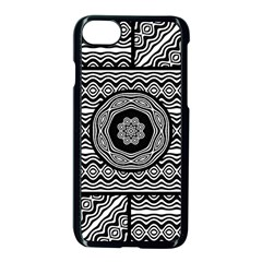 Wavy Panels Apple Iphone 7 Seamless Case (black) by linceazul