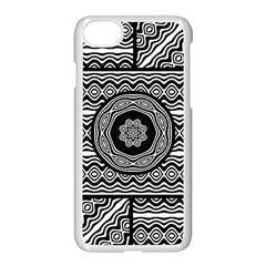 Wavy Panels Apple Iphone 7 Seamless Case (white) by linceazul
