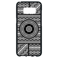 Wavy Panels Samsung Galaxy S8 Black Seamless Case by linceazul