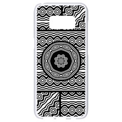 Wavy Panels Samsung Galaxy S8 White Seamless Case