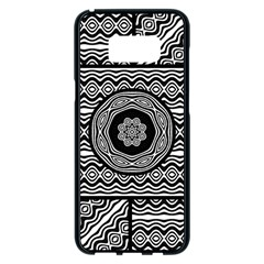 Wavy Panels Samsung Galaxy S8 Plus Black Seamless Case by linceazul