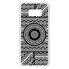Wavy Panels Samsung Galaxy S8 Plus White Seamless Case by linceazul