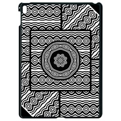Wavy Panels Apple Ipad Pro 9 7   Black Seamless Case by linceazul