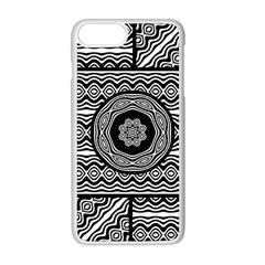 Wavy Panels Apple Iphone 8 Plus Seamless Case (white) by linceazul