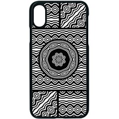 Wavy Panels Apple Iphone X Seamless Case (black) by linceazul