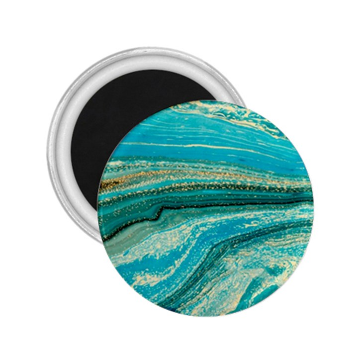 Mint,gold,marble,nature,stone,pattern,modern,chic,elegant,beautiful,trendy 2.25  Magnets