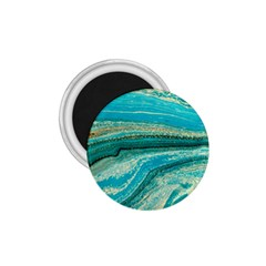 Mint,gold,marble,nature,stone,pattern,modern,chic,elegant,beautiful,trendy 1.75  Magnets