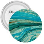 Mint,gold,marble,nature,stone,pattern,modern,chic,elegant,beautiful,trendy 3  Buttons Front
