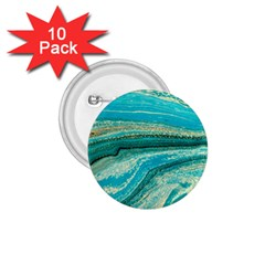 Mint,gold,marble,nature,stone,pattern,modern,chic,elegant,beautiful,trendy 1.75  Buttons (10 pack)